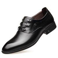 Прямая продажа с фабрики, известный бренд, деловая модельная мужская кожаная обувь, кожаные свадебные туфли с острым носком, мягкая кожаная