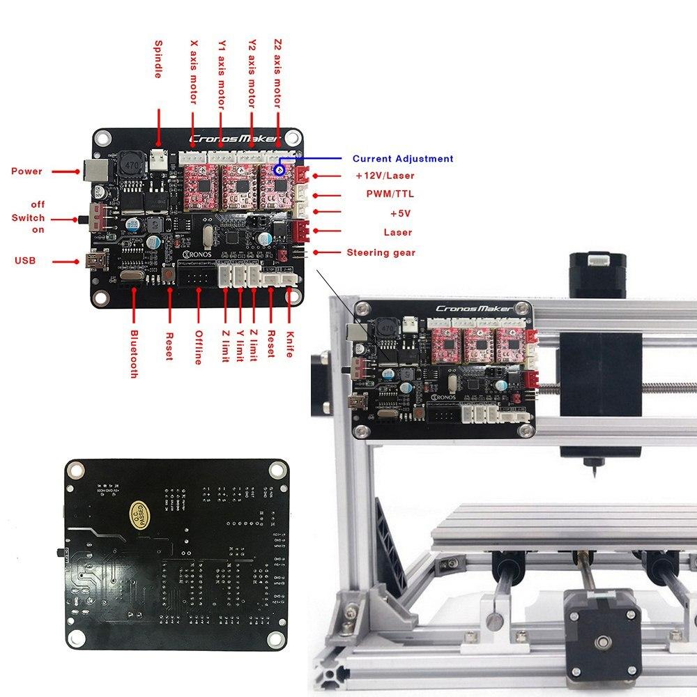 de placa de controle da máquina de gravura do cnc