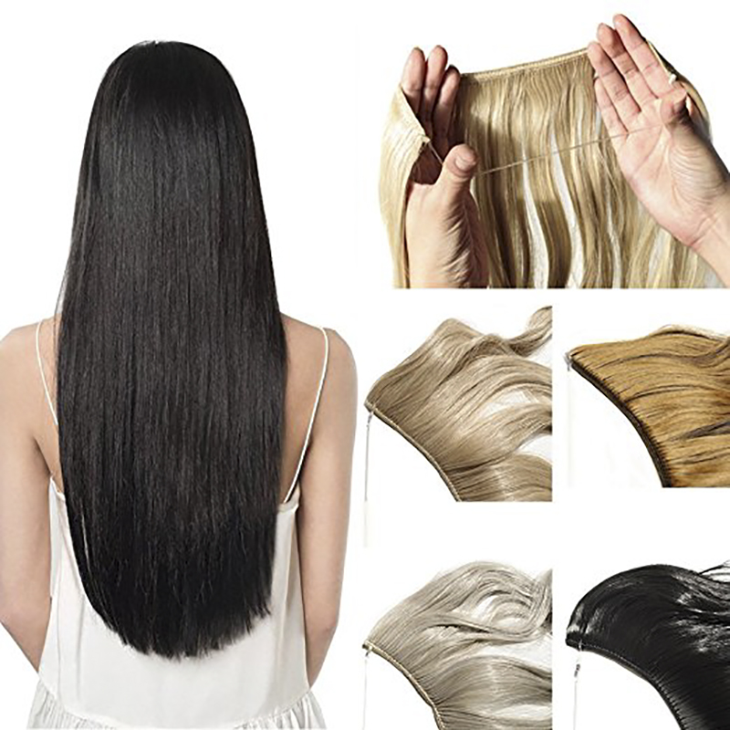 JINKAILI WIG Clips in Hair Extensions Silky Straight Long Curly High Natural Thick Synthetic Hair Hairpiece