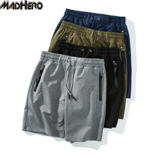 MADHERO 2017 Marke Kleidung Männer Shorts Mit Taschen Baumwolle Kordelzug Shorts Sommer Feste Plus Größe M-5XL Kurze Hosen Für mann