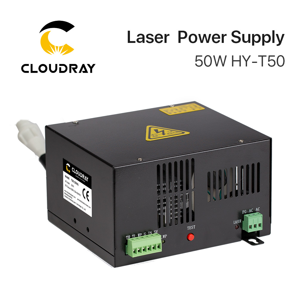 Cloudray 50 Вт CO2 лазерной Питание для CO2 лазерной гравировки, резки HY-T50 T/W серии