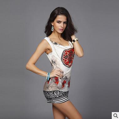 aa2cd9b78 Nueva marca de Verano 2016 mujeres vestido de la vendimia Mini vestido de  leopardo sin mangas para las mujeres Sexy Club de gasa vestido de impresión    v0