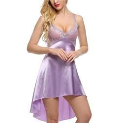 Сексуальное женское нижнее белье из искусственного шелка платье халаты спальный костюм высокое качество v-образный вырез пижамы