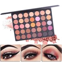 Brand Pro 35 Colors Brand Pigments Waterproof Eyeshadow Palette Makeup Shimmer Matte Smoky Eye Shadow Cosmetics
