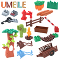 UMEILE Farm Life Series Large Particles DIY Brick Creative Building Blocks  Kids Education Toy Compatible With Legoe Duplo