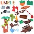 Umeile granja vida serie partículas grandes bloques de construcción para niños juguetes educativos de diy creativo de ladrillo compatible con legoe duplo