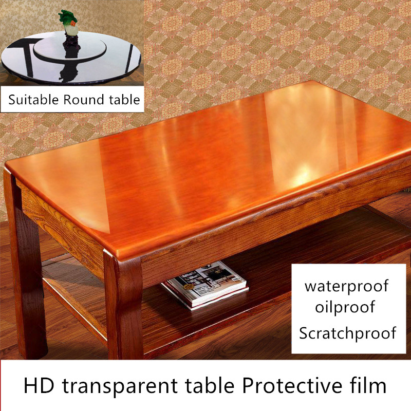 Furniture Foil Transparent Solid Wood Dining Table Marble