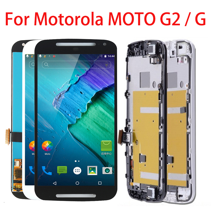 LCD <font><b>Display</b></font> For <font><b>Motorola</b></font> MOTO G2 XT1063 XT1064 <font><b>XT1068</b></font> XT1069 Touch Screen For MOTO G G1 XT1032 XT1033 Digitizer Assembly Frame image