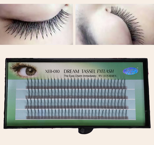 New 3d Charming Dream Tassel Tapered Eyelash Extensions A Type Cluster Eyelash Extensions 120pctray In False Eyelashes From Beauty Health On