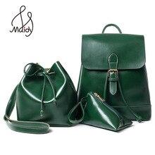 Кожаный рюкзак для женщин и плечо большие сумки Mochila Школа Подростков Повседневная Новый стиль комплект сумка старинные рюкзаки девушки