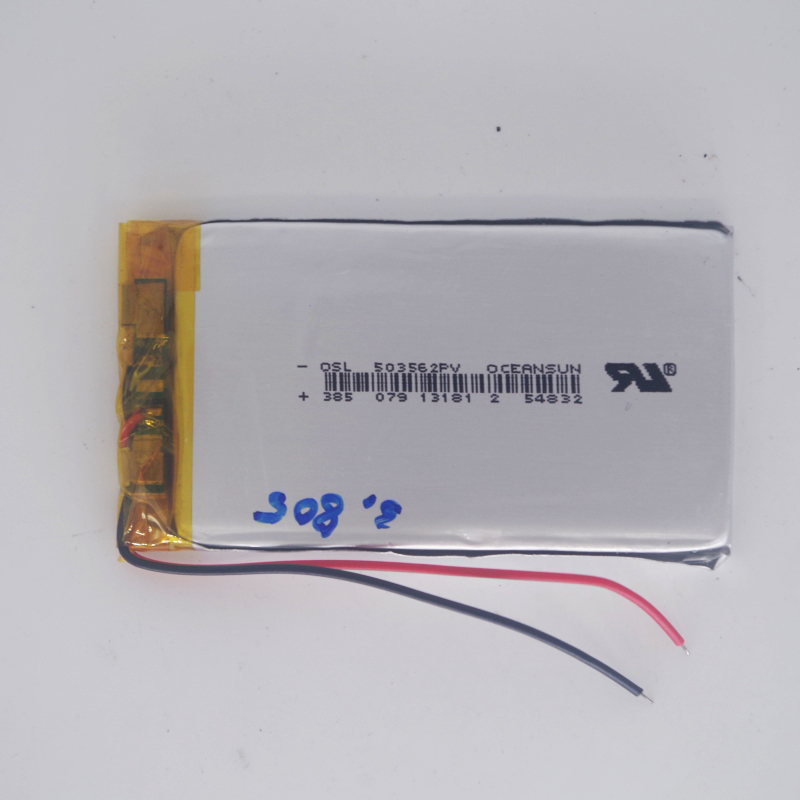 <font><b>3</b></font>.7v li po li-ion batteries lithium polymer battery <font><b>3</b></font> <font><b>7</b></font> <font><b>v</b></font> lipo li ion rechargeable lithium-ion for 503562 lamp image