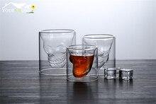 6pcs 75ml Skull Head Vodka Shot Glass Drinking Ware for Home Office Bar Set