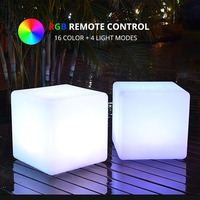 30x30x30CM RGB LED Cube Remote Control Rechargeable Multicolor Luminous Cubic Lamp Home Garden Event Night Party LED Furniture