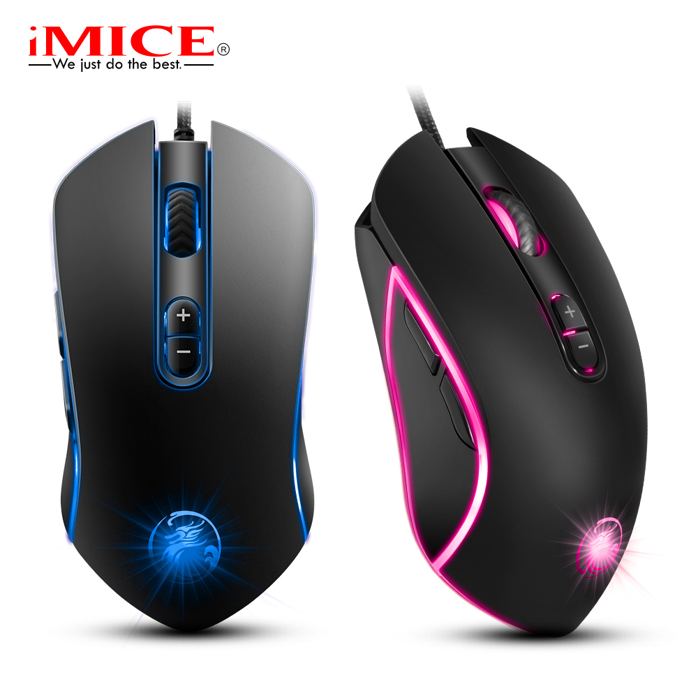 Gaming Mouse Wired Computer Game Mouse 7 Button Backlight Game Mice 3200 DPI USB PC Mouse Mause Gamer for Laptop LOL DOTA 2 delux m625 rgb backlight gaming mouse 12000 dpi 12000 fps 7 buttons optical usb wired mice for lol dota game player pc laptop
