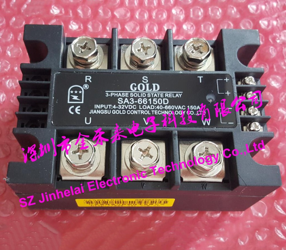 New and original SA366150D SA3-66150D GOLD 3-PHASE Solid state relay SSR 4-32VDC,40-660VAC 150A new and original sa366150d sa3 66150d gold 3 phase solid state relay ssr 4 32vdc 40 660vac 150a