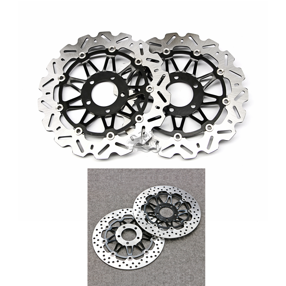 Floating Front Brake Disc Rotor For Suzuki Bandit GSF250 400 Katana GSX250F/S Motorcycle 310mm motorcycle front wavy floating brake disc rotor for suzuki gsf bandit 1250 07 15 gsx1250 10 15 b king 1300 08 11 gsx1300