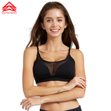 SYPREM 2017 Spring Fitness Sports Bra Non steel Gather type mesh perspective shockproof women sports yoga fitness bra ,1FT1138