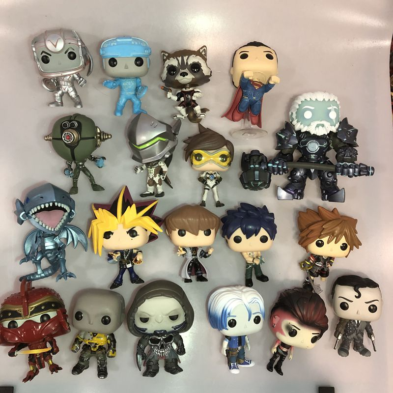Funko Pop Secondhand Ready Player One, Superman, Rocket, Yu-Gi-Oh, Games Watch Vinyl Action Figure Collectible Model Loose Toys(China)