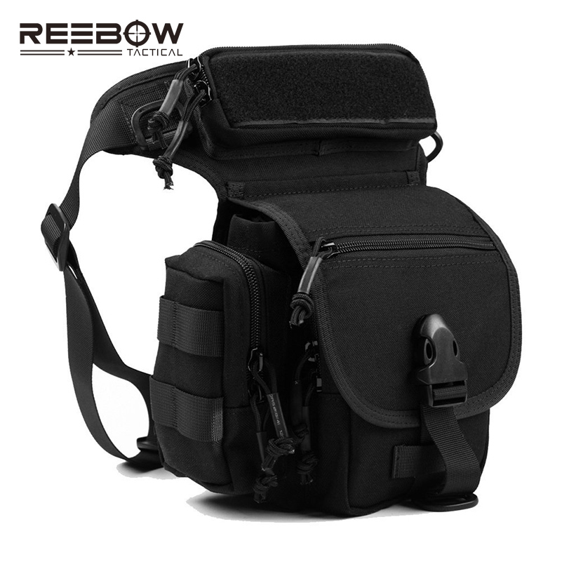 REEBOW TACTICAL Outdoor 1000D CORDURA Waist Leg Bags Pack Multifunctional SWAT Sport Motorcycle Riding Pouch Drop Leg Bag