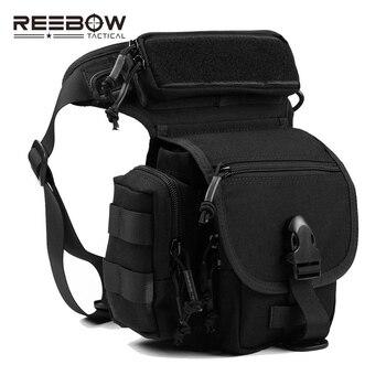 REEBOW táctico al aire libre 1000D CORDURA cintura bolsas de pierna paquete multifuncional SWAT deporte motocicleta bolsa de montar gota bolsa de pierna