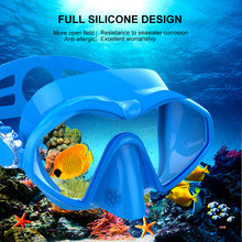 New Swimming Goggles Adult Diving Mask Snorkeling Glasses Equipped with Anti-fog Big Frame Silicone