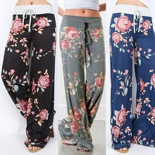 women pants fashion 2019 woman floral print casual loose trousers pants holiday plus size clothes mama clothing gothic korean