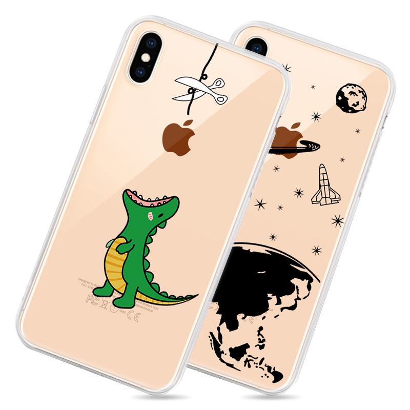 Soft Silicone TPU Cool Pattern Phone Shell For iPhone Models 3