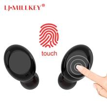 Waterproof Bluetooth 4.2 Earphone Touch Wireless Control Earphones TWS earbuds Siri LJ-MILLKEY YZ118