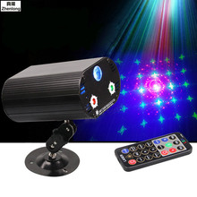 High Quatily LED 3 In 1 RG Remote Laser Music Light Dj Laser Projector Disco Stage Effect Light for Home Party Entertainment цены