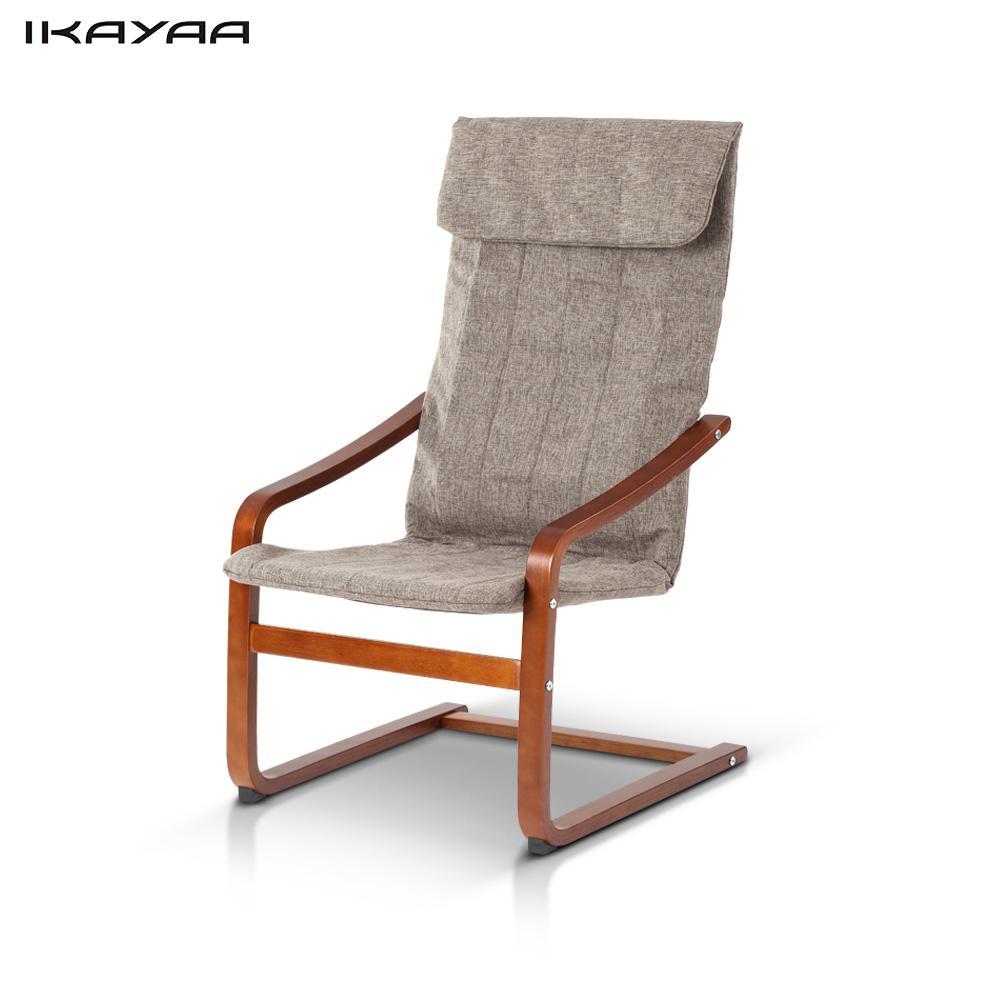 ikayaa capacidad lb reclinable silla de comedor de madera curvada silla de madera de abedul