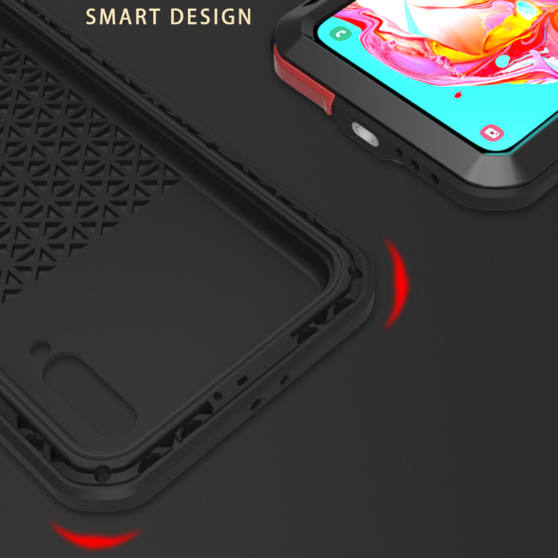 Image 4 - LOVEMEI Powerful IP68 Waterproof Shockproof Metal Case For  Samsung Galaxy A70 Aluminum Silicone Tempered Glass Phone Cover  BagFitted Cases