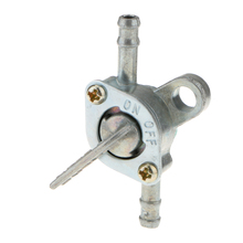 цена на Petcock Fuel Valve Silver for Turning Fuel On / Off Mini Chopper Pocket Bike and Quad Auto Replacement Parts