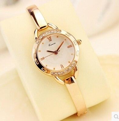 Kimio luxury Women's Watches Gold Clock Ladies Bracelet Quartz wristwatch Waterproof Diamond Dress Women Jewelry Watches Femme