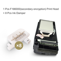 Original F186000 UV Printhead DX5 Solvent Print Head Secondary Encryption For Epson R1800 R2000 R2400 With Free Ink Damper