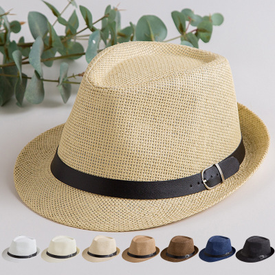 Family Matching Summer Hats Dad Son Straw Hat For Kids Father Boys Star Sun Cap Panama Hat Caps Beach Accessories