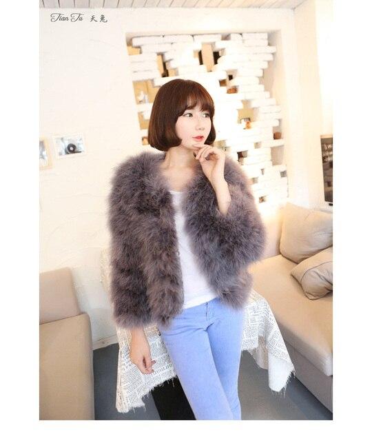 Women's Winter Fur Coat Ostrich