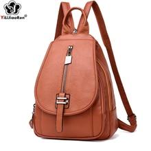 Fashion Women Leather Backpack Large Capacity Backpacks Travel Bags Shoulder Bag Female School Backpack Teenager Girls Sac A Dos