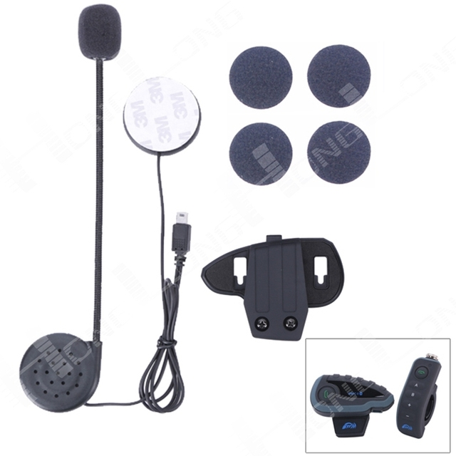 1 PC BT Intercom Accessory(Earphone and Clip) for V8 Motorcycle Bluetooth Helmet Intercom