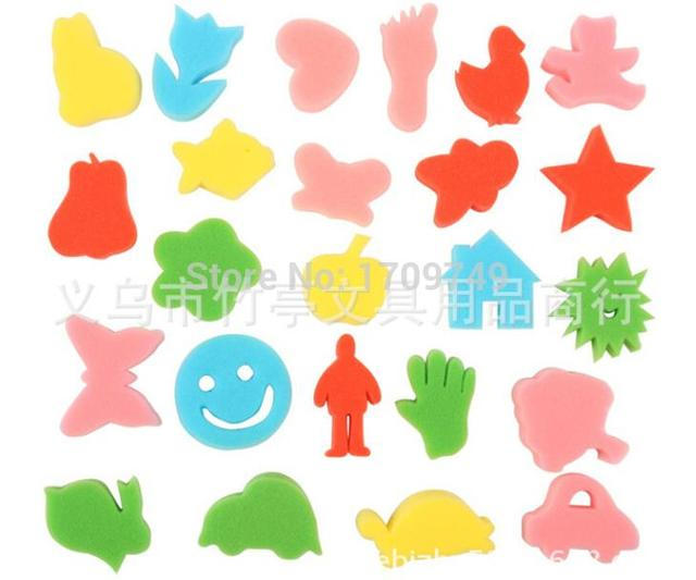 24 different shapes sponge seal diy supplies creative art and craft
