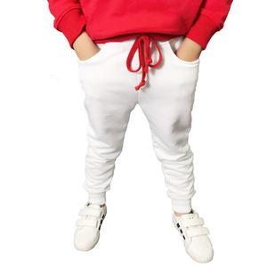 Image 5 - جديد 2019 أطفال بنين بنطلون رياضي الأطفال سراويل طويلة القطن الربيع Sweatpants teenage عادية الصلبة الأبيض والأسود Sweatpants