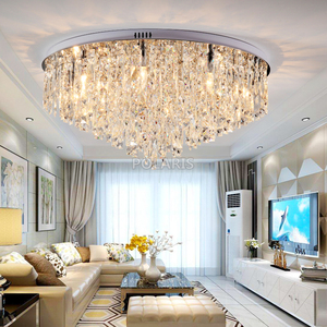 Image 2 - מודרני נברשת קריסטל תאורה סומק הר נברשות אור עבור עבור סלון אוכל חדר שינה אולם מסעדת מלון דקור