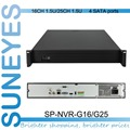SunEyes  SP-NVR-G16/G25  1.5U Professional Project Quality NVR Support 2.0MP 3.0MP and 5.0MP IP Camera with 4 SATA HDD Port