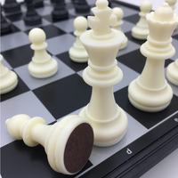 Standard Chess Learning Set Folding & Magnetic Board Size 32 cm x 32 cm Chess Tournament Gifts For Men Outdoor Travel Board Game