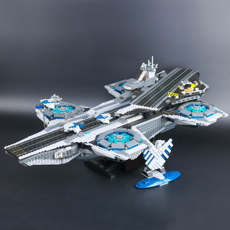 New 3057pcs Super Heroes The SHIELD Helicarrier Model Educational Building Kits Blocks Bricks compatible LEPINE Figures Toys lepine model