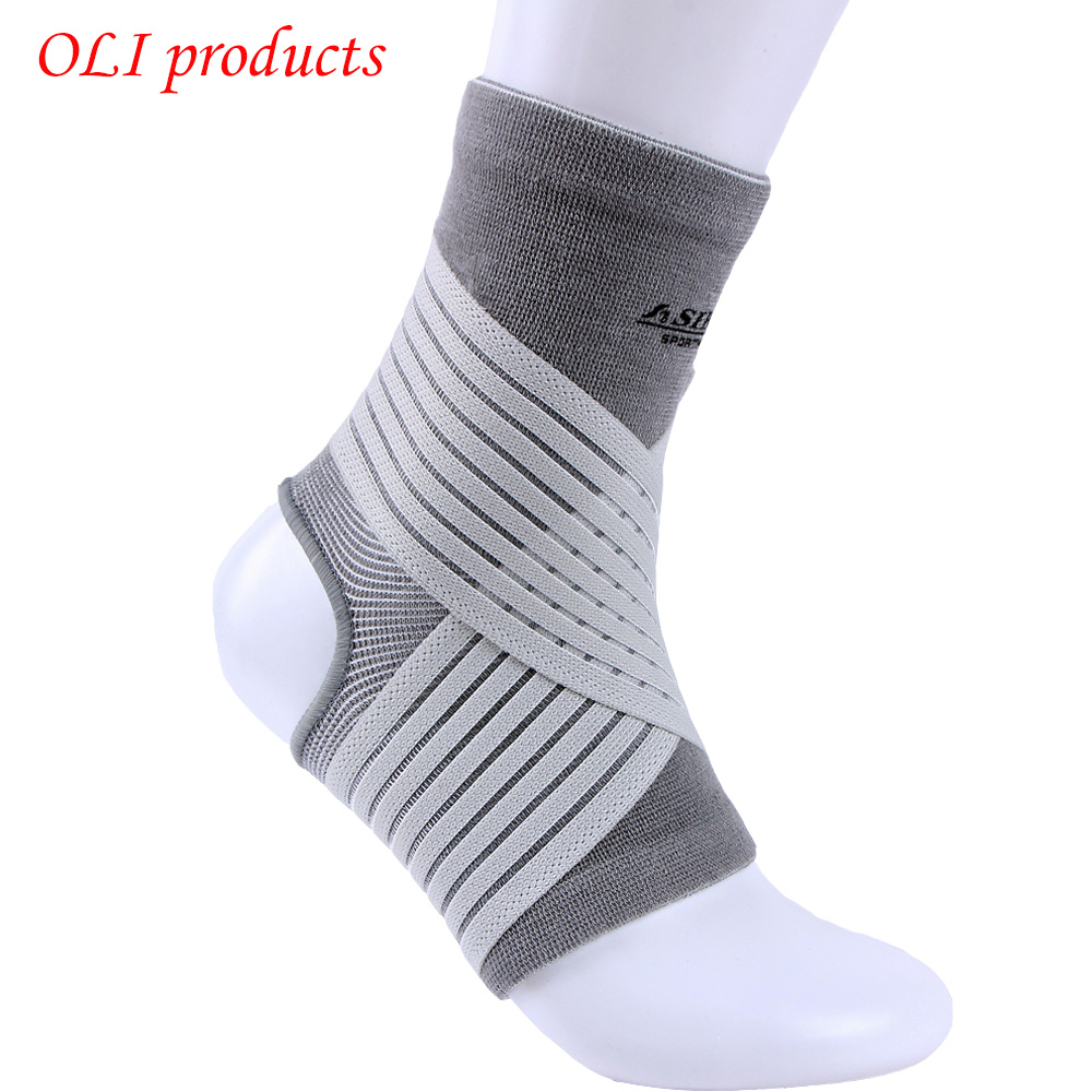Sports Equipment Nylon Spandex Elastic Pressure Ankle Support Brace Pads Ankle Protector  Free Shipping #ST6616