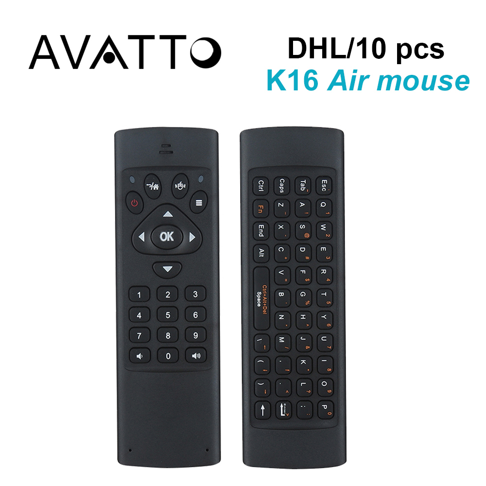 [AVATTO] 10pcs/DHL K16 Hebrew/English 2.4G Wireless Mini Keyboard IR Learning Air Mouse for Smart TV,PC,PS3, pad,Android Box