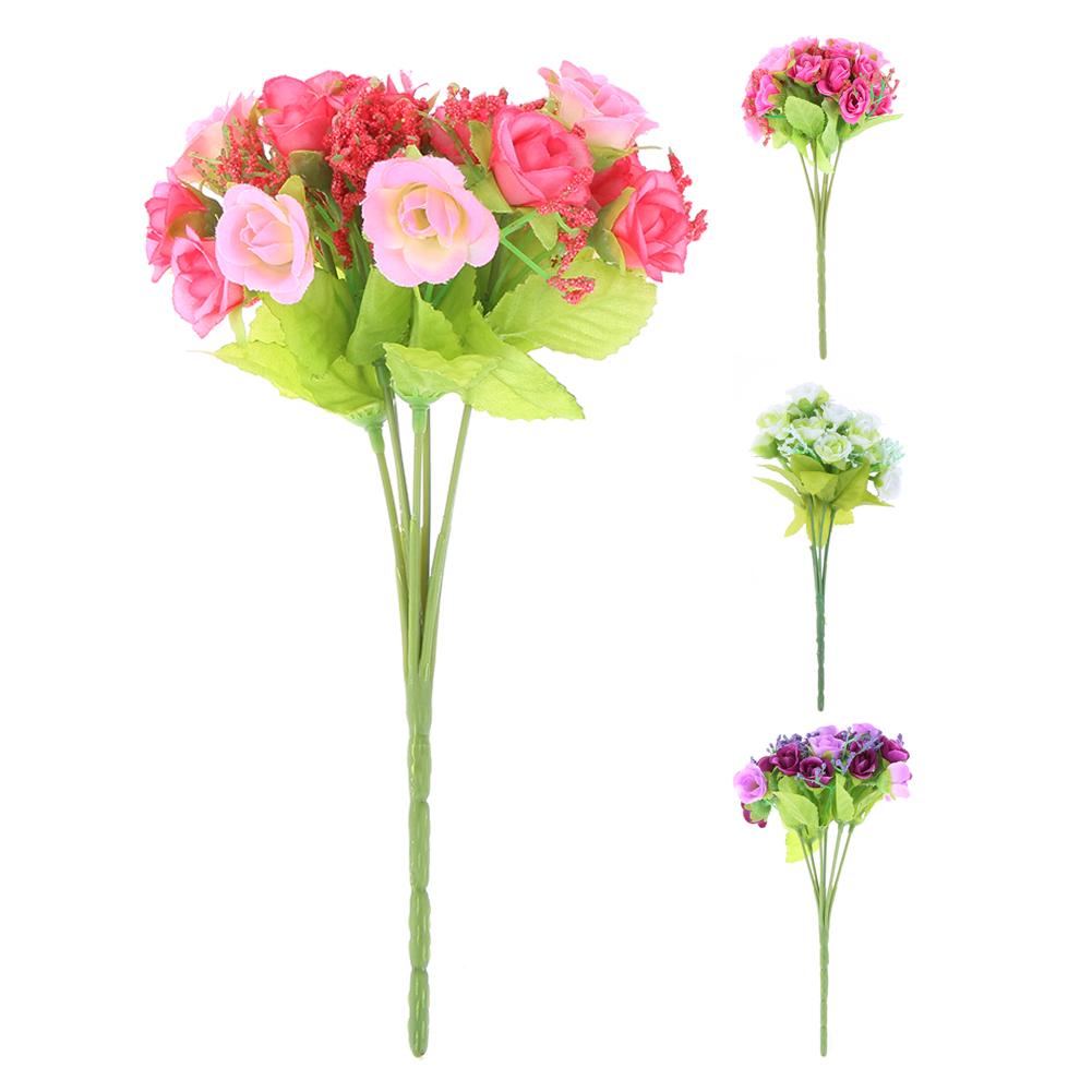 Flower heads for crafts - 7 Emulational Flower Heads Artificial Flowers Wedding Party Christmas Olympics Home Decoration Multicolor Craft Ornaments
