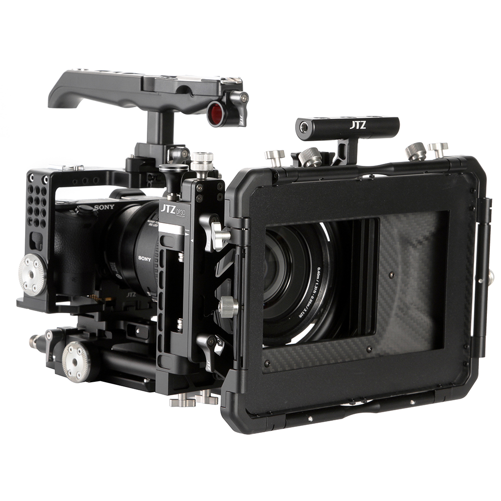 JTZ DP30 Camera Cage Baseplate Rig Grip KIT For SONY Alpha A6000 A6300 A6500 4K jtz dp30 camera cage baseplate rig for blackmagic ursa mini 4k 4 6k ef pl cinema