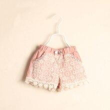 Рябить цветка совета шнурка розовый новорожденных девочек лето шорты детская девушки