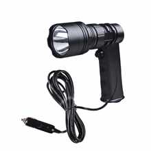 JUJINGYANG CREE LED powerful high quality gun shape spotlight with indicator light cigarette holder plug external contact wire - DISCOUNT ITEM  10% OFF Lights & Lighting